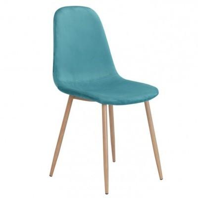 Cadeira Velvet Turquesa