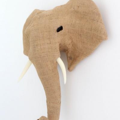 Elefante Patchwork Juta Natural