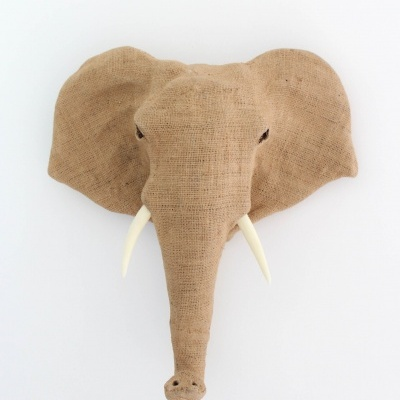 Elefante Patchwork Juta Natural