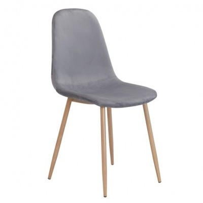 Cadeira Velvet Cinza