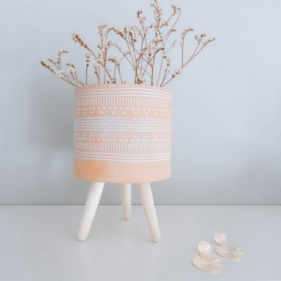 Vaso Étnico Pastel Pink