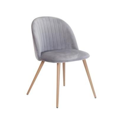 Cadeira Velvet Curve Cinza Claro