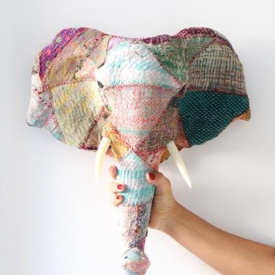Elefante Patchwork Colorido III