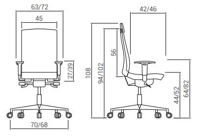 Cadeira Flexa Medidas
