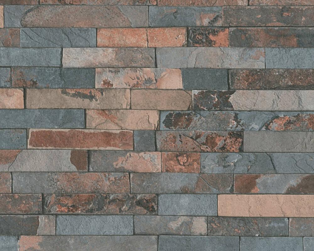 Papel de Parede Estilo Pedra, Preto, Castanho, Cinza