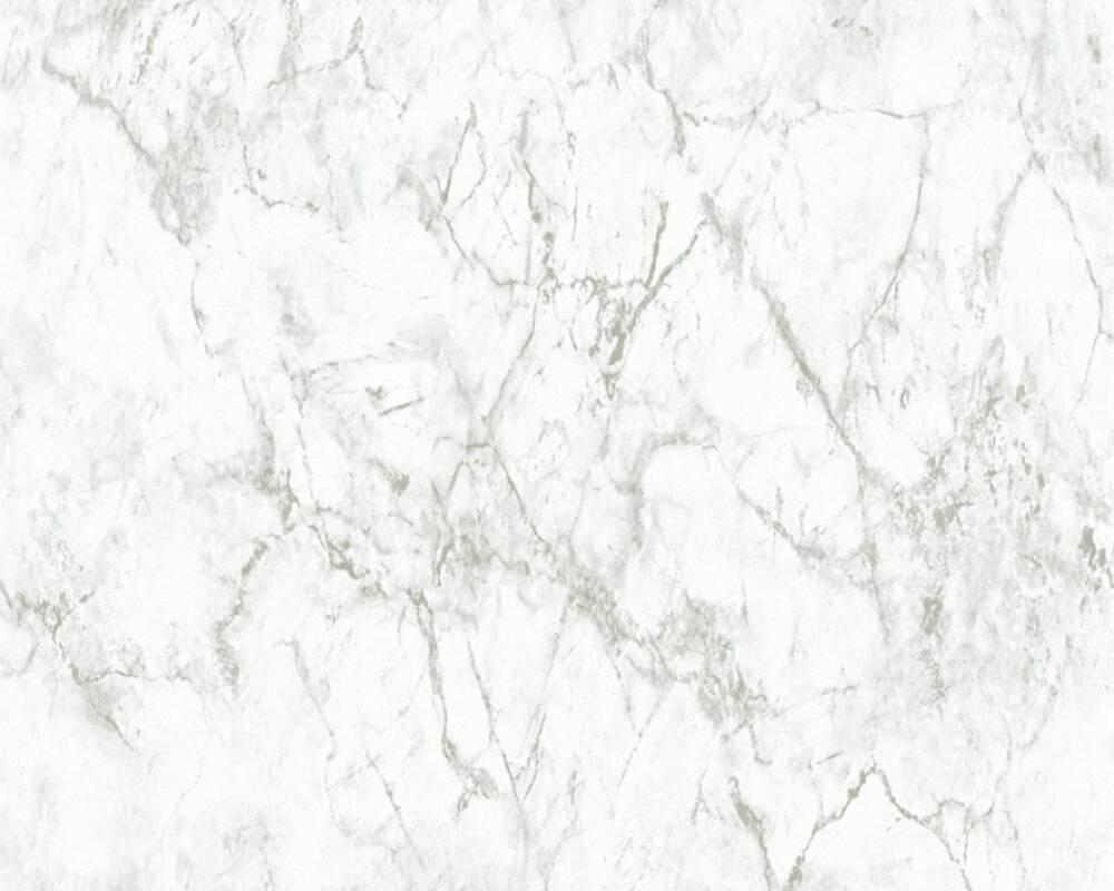 Papel de Parede Estilo Pedra, Mármore, Cinzento, Branco