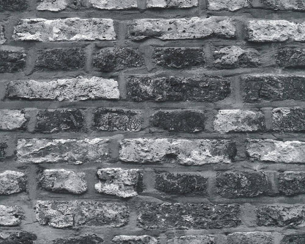 Papel de Parede Estilo Pedra, Casa de Campo, Preto, Cinzento