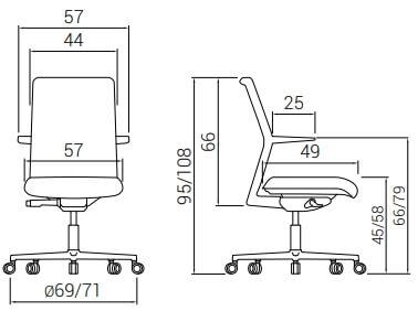 Cadeira Dile Equis Medidas