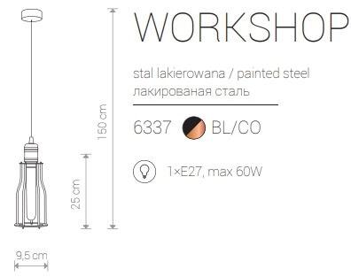 Candeeiro Suspenso Nowodvorski Workshop A | Preto & Latão
