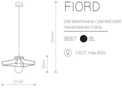 Candeeiro Suspenso Nowodvorski Fiord A | Preto