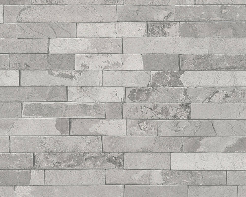 Papel de Parede Estilo Pedra, Casa de campo, Cinzento