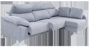 Sofá Designer com Chaise Longue e Assentos Deslizantes