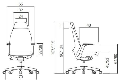 Cadeira Dile 4U Medidas