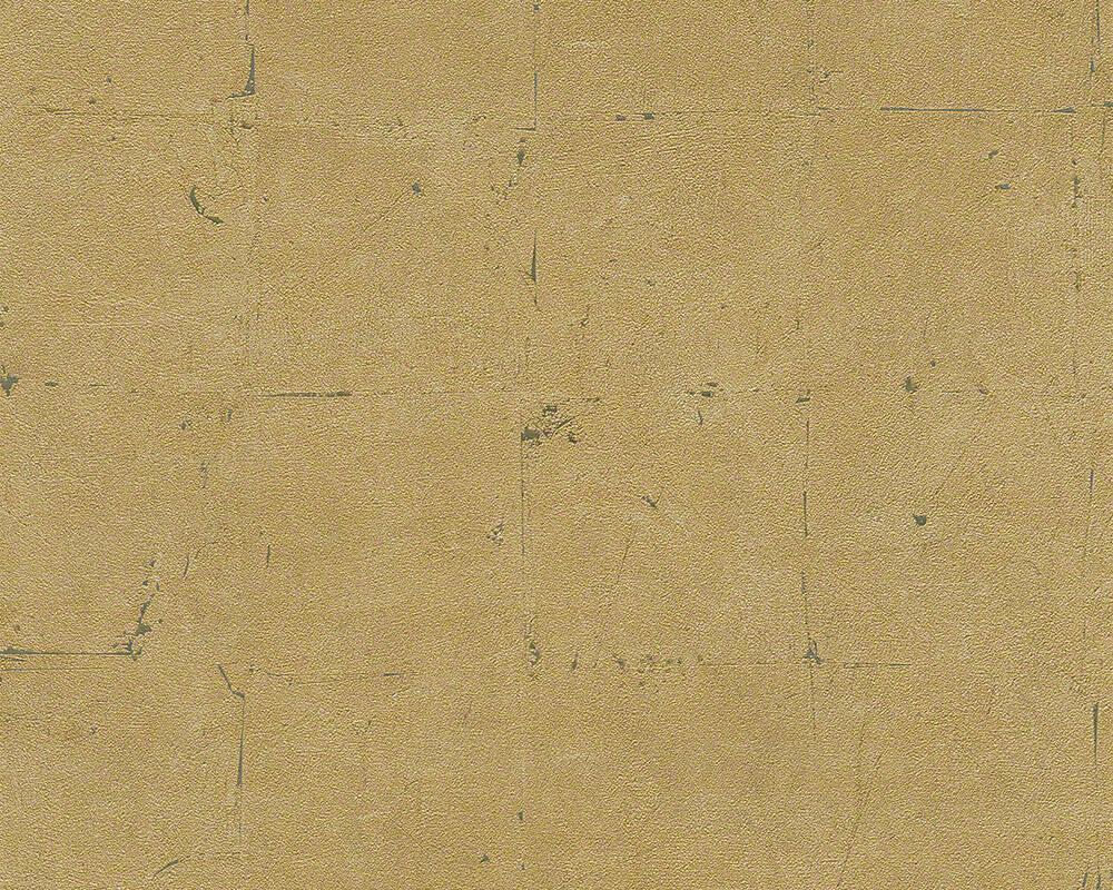 Papel de Parede Estilo Pedra, Azulejo, Ouro, Metálico