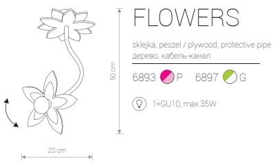 Candeeiro de Teto Suspenso para Criança com Flor Verde