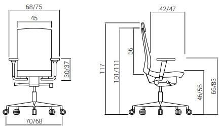 Cadeira Flexa 24H Medidas
