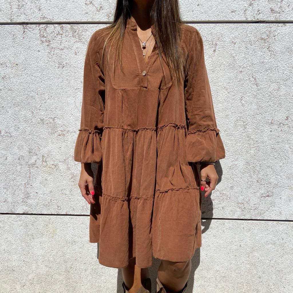 Vestido Bombazine | Camel