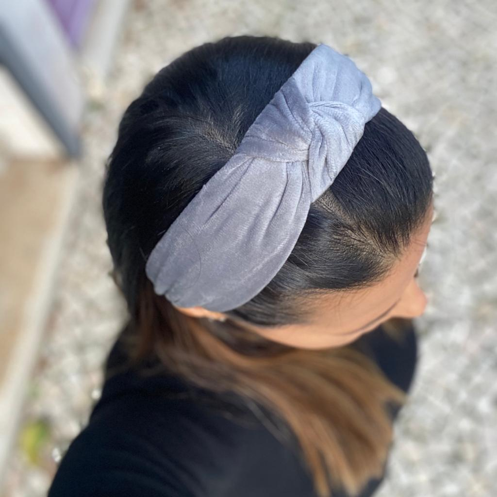 Bandolete Veludo | Cinza