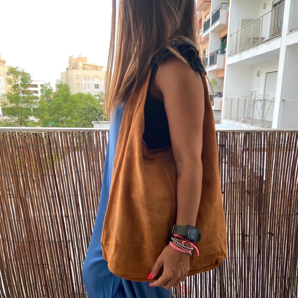Mala tipo Saco | Camurça Camel