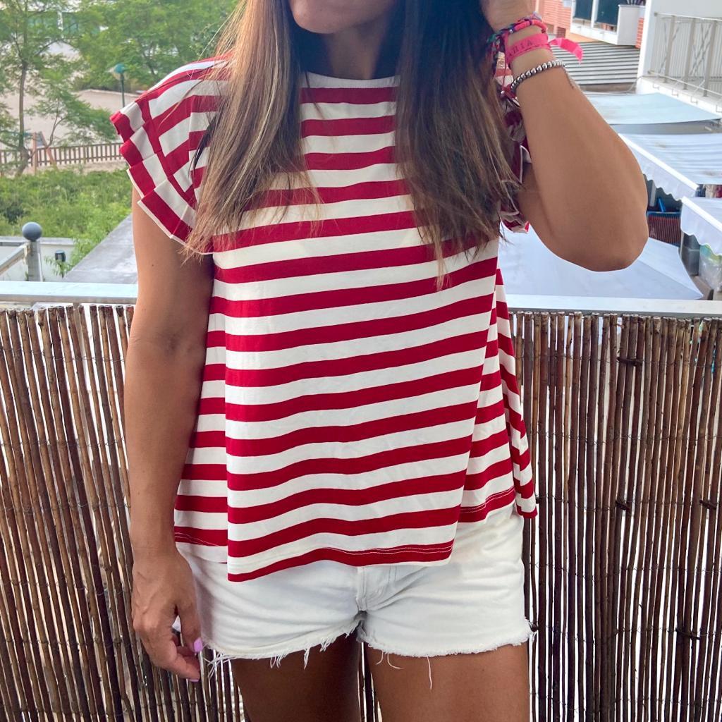 T-Shirt Riscas | Vermelho