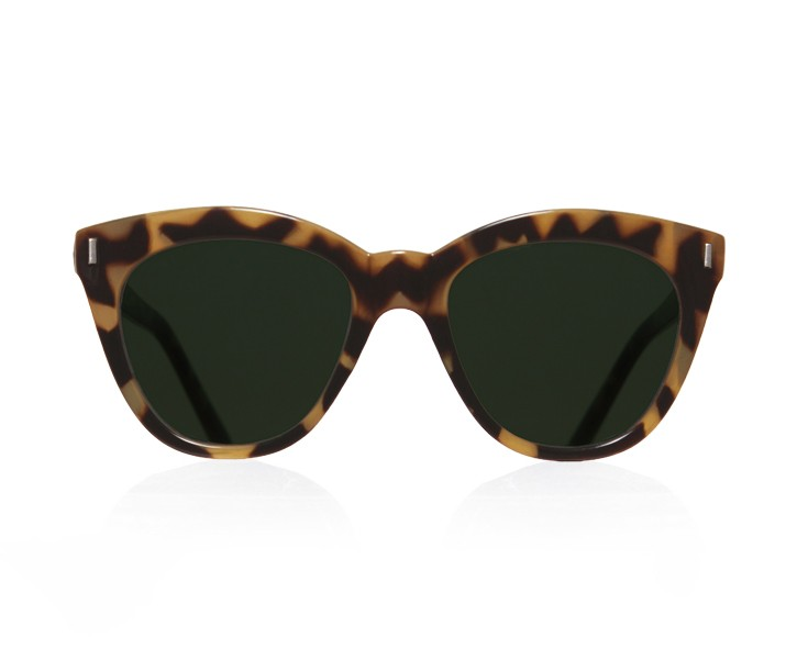 LUNE | SHINY CARAMEL WITH GREEN LENSES
