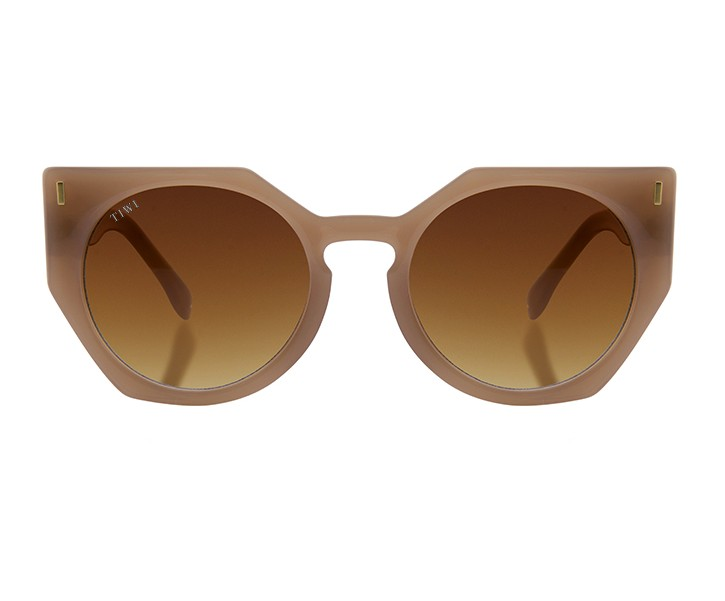 VENUS | SHINY COCONUT WITH BROWN GRADIENT LENSES