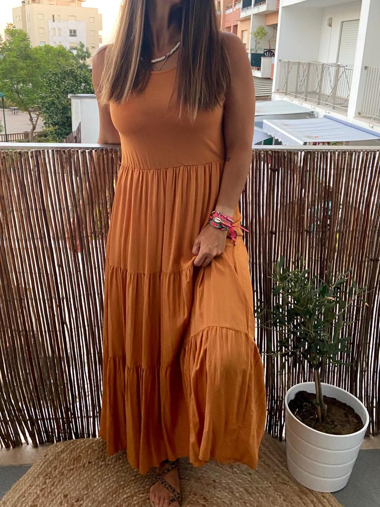 Vestido Comprido Summer Collection   Tijolo