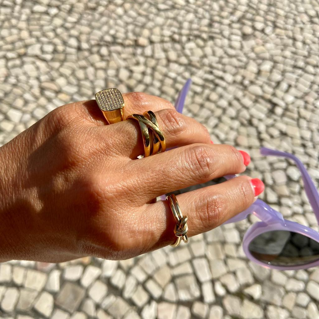 Anel Roma | Dourado