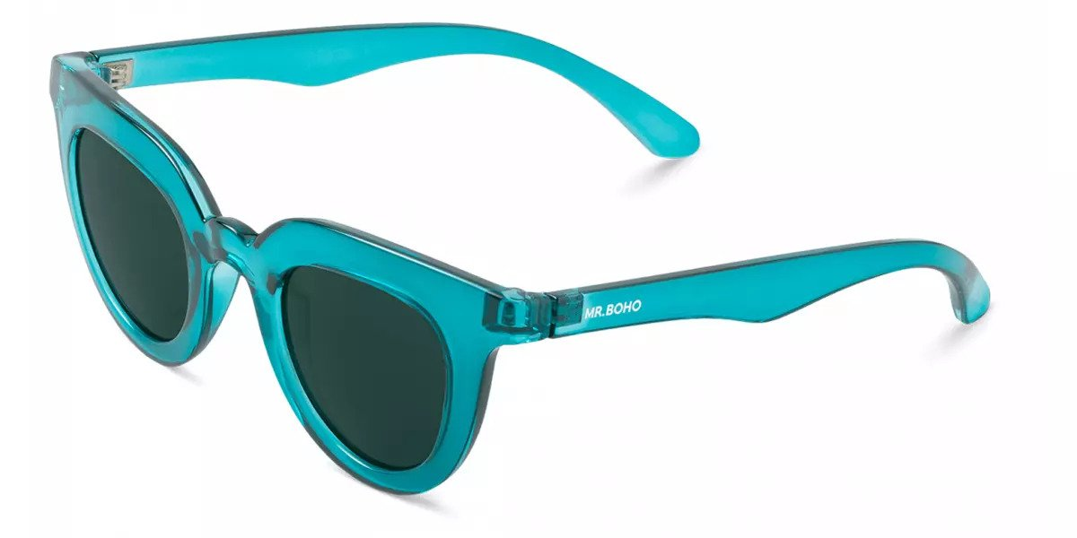 HAYES | TRANSPARENT BLUE with classical lenses