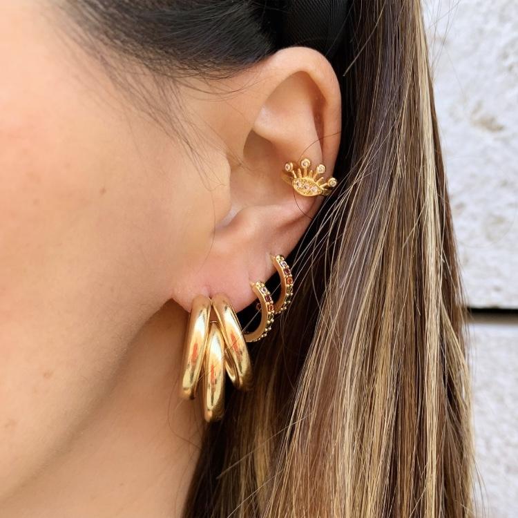 Brincos Argolas Triplas | Douradas