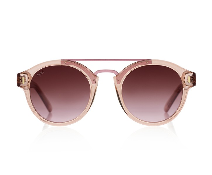 HALLEY | SHINY PINK WITH BURGUNDY GRADIENT LENSES