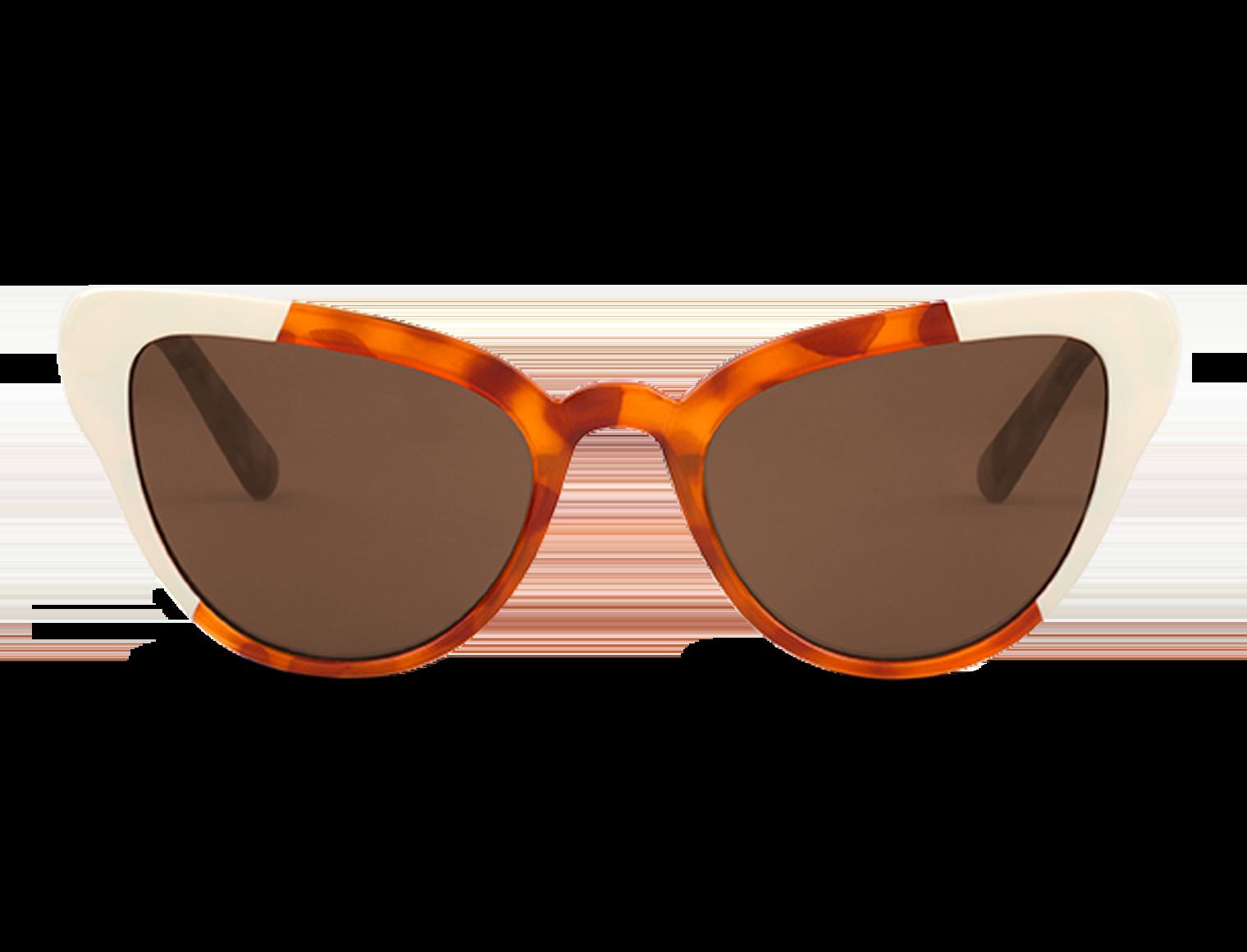 VESTERBRO  | CREAM/LEO TORTOISE with classical lenses