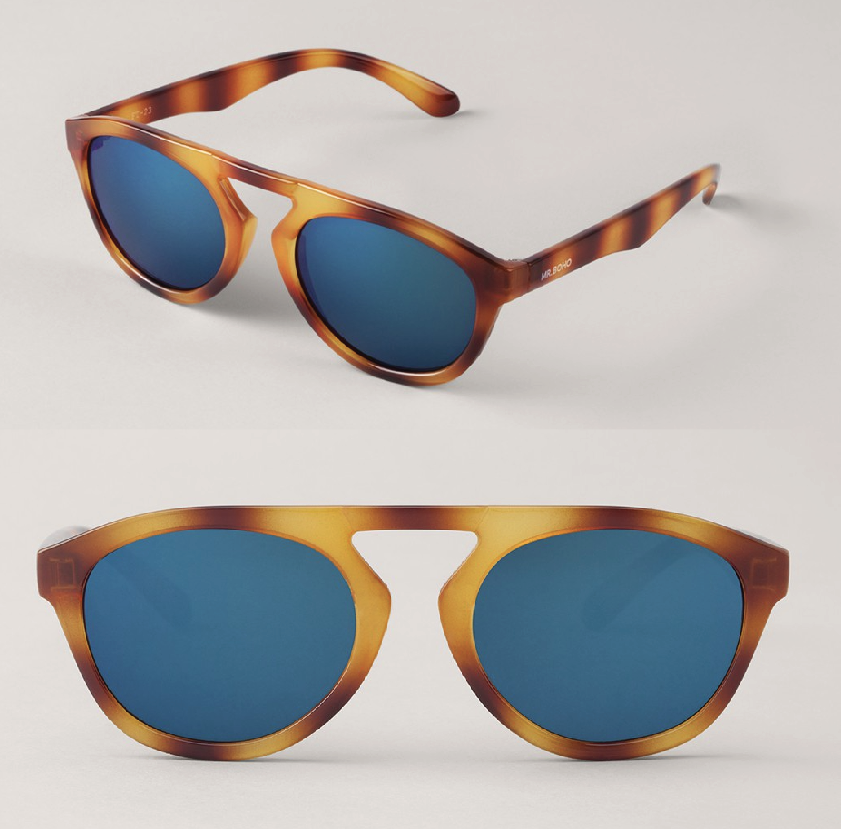 Tortoise Wynwood with Dark Blue Lenses