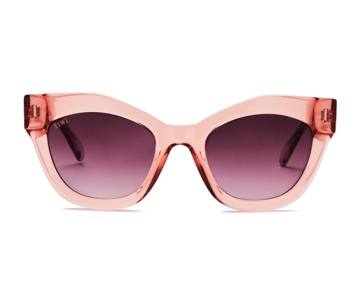 NISSA | SHINY PINK WITH BURGUNDY GRADIENT LENSES