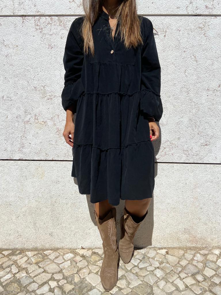 Vestido Bombazine | Preto