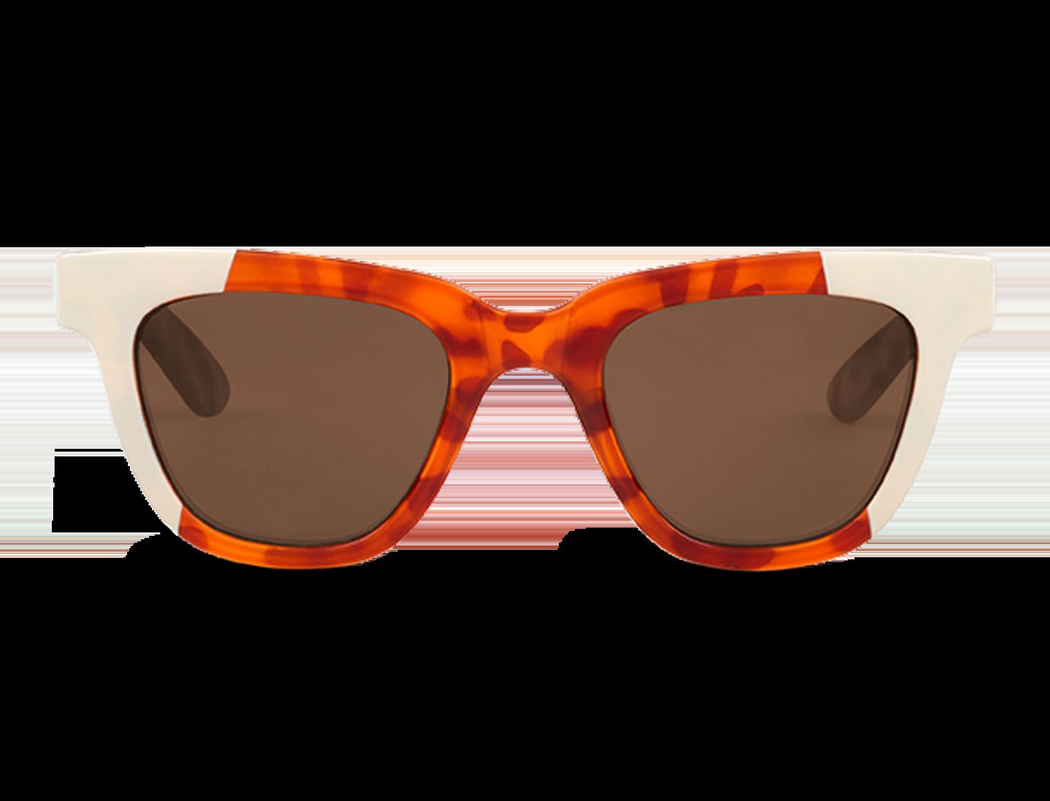 LETRAS | CREAM/LEO TORTOISE with classical lenses