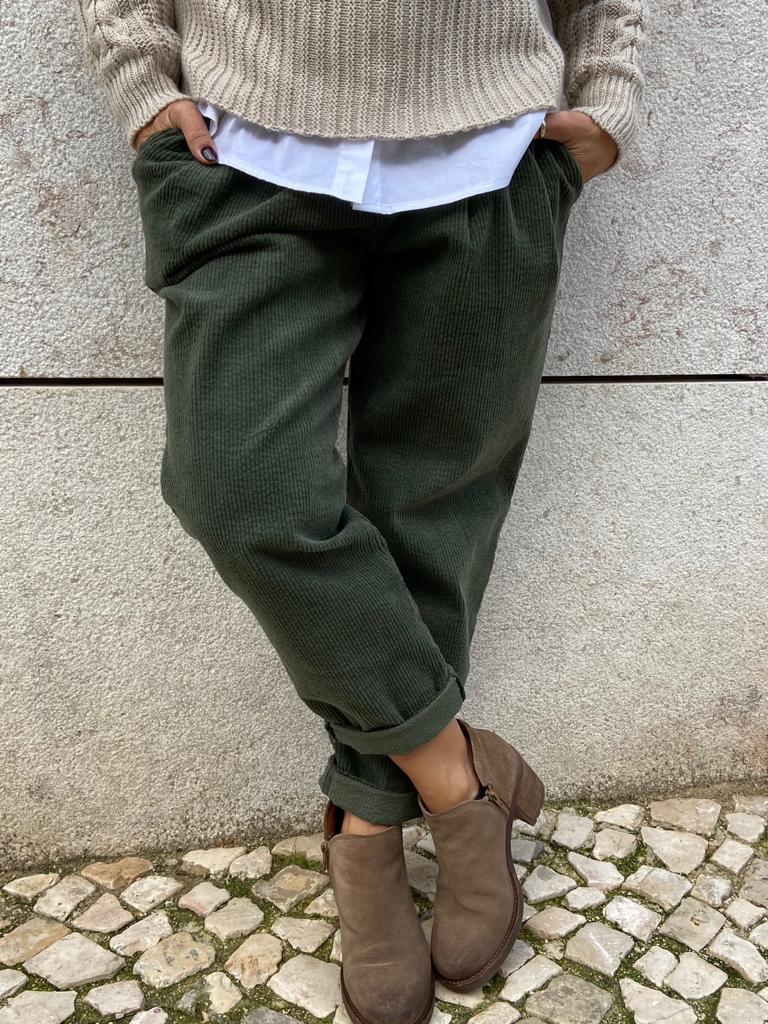 Calças Bombazine   Kaki