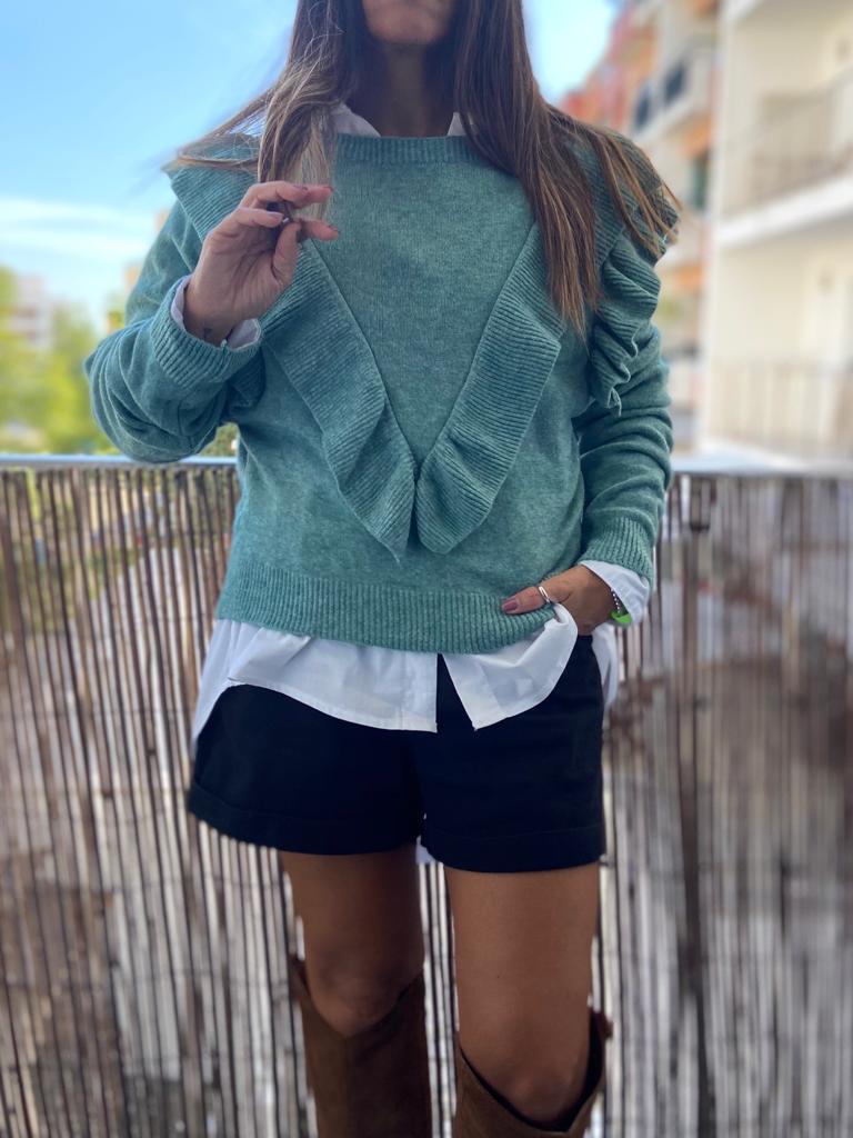 Camisola Folho   Verde