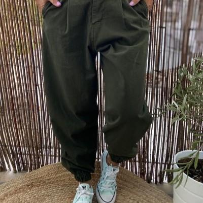 Calças   Kaki