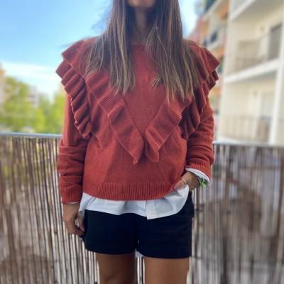 Camisola Folho | Tijolo