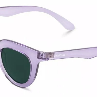 HAYES | TRANSPARENT PURPLE with classical lenses