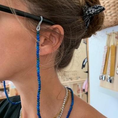 Fita de óculos pérolas com cor