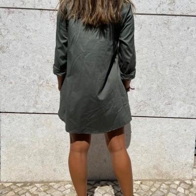 Camisa Comprida Atrás | Verde