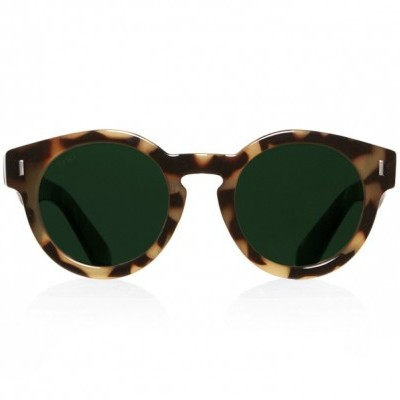 SATURN CARAMEL TORTOISE WITH GREEN LENSES