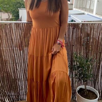 Vestido Comprido Summer Collection | Tijolo