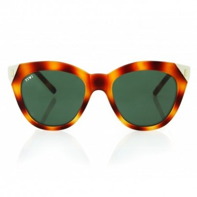 LUNE | RUBBER BUTTERFLY WITH GREEN GRADIENT LENSES