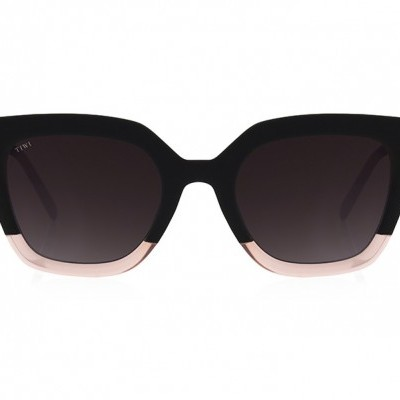 HALE | BICOLOUR BLACK/PINK WITH BURGUNDY GRADIENT LENSES