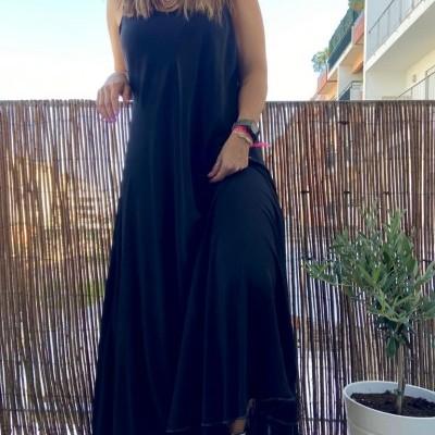 Vestido Liso Comprido | Morango