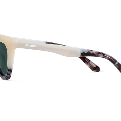 HAYES | CREAM/ASH with classical lenses
