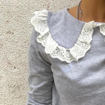 Camisola Gola Renda | Preta